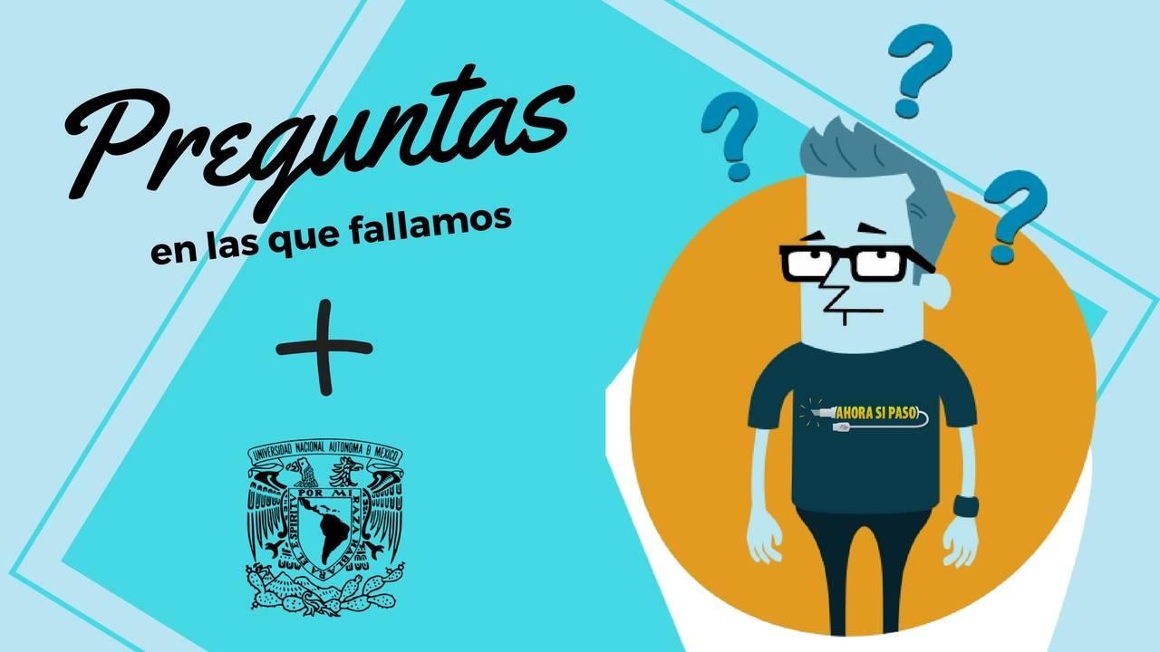 Errores más Comunes | Examen UNAM