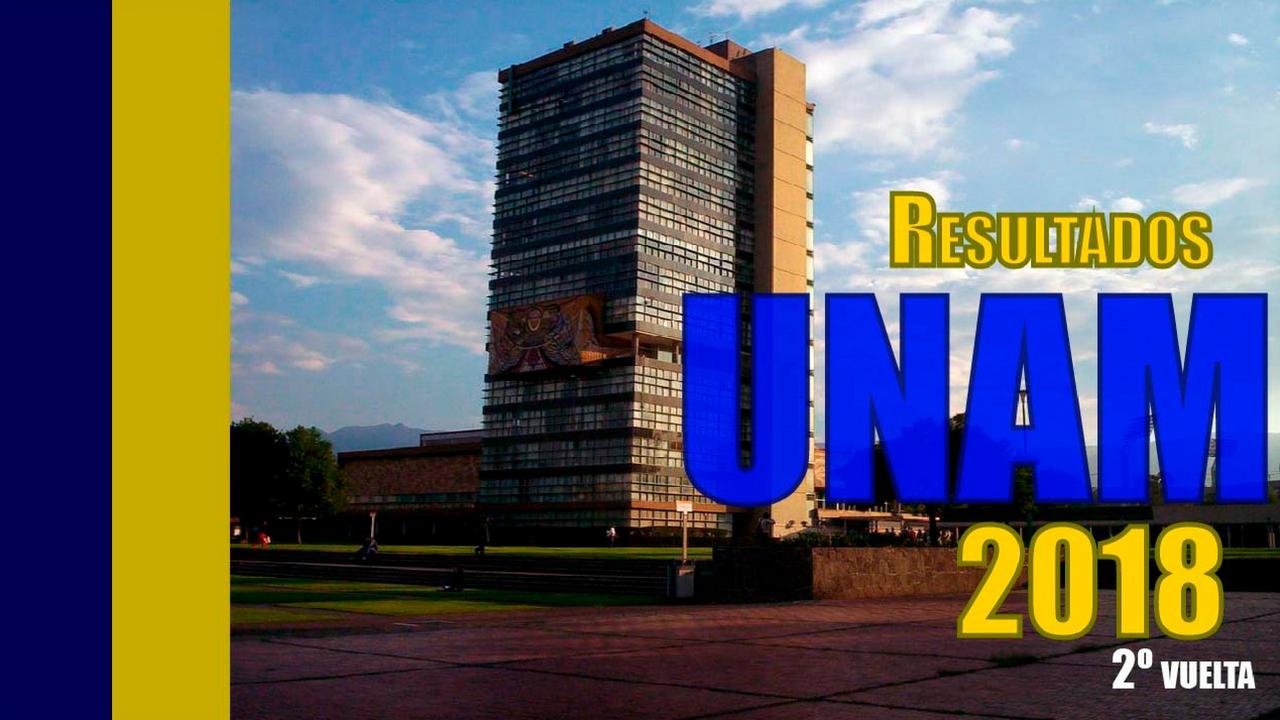 Resultados UNAM | Segundo concurso de selección 2018