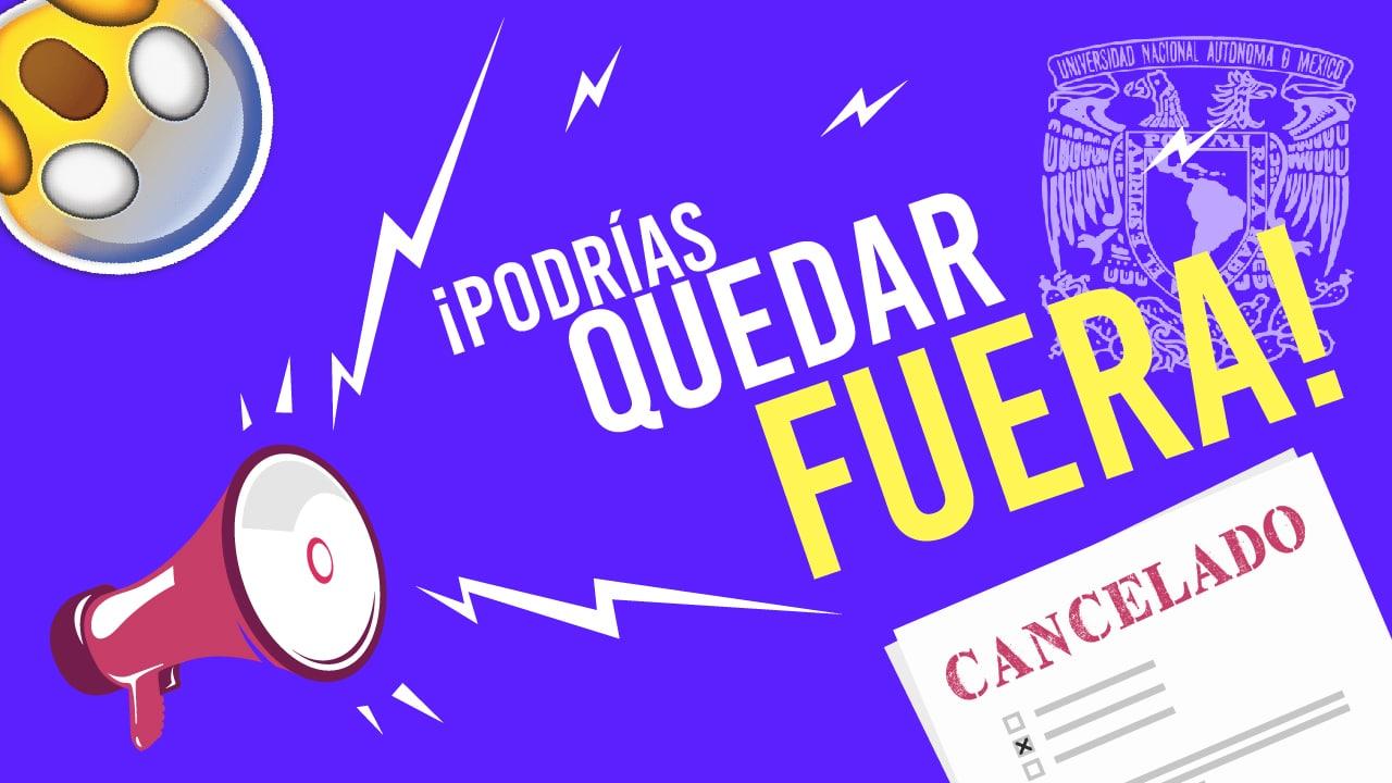 Razones para cancelar tu examen UNAM | ASP