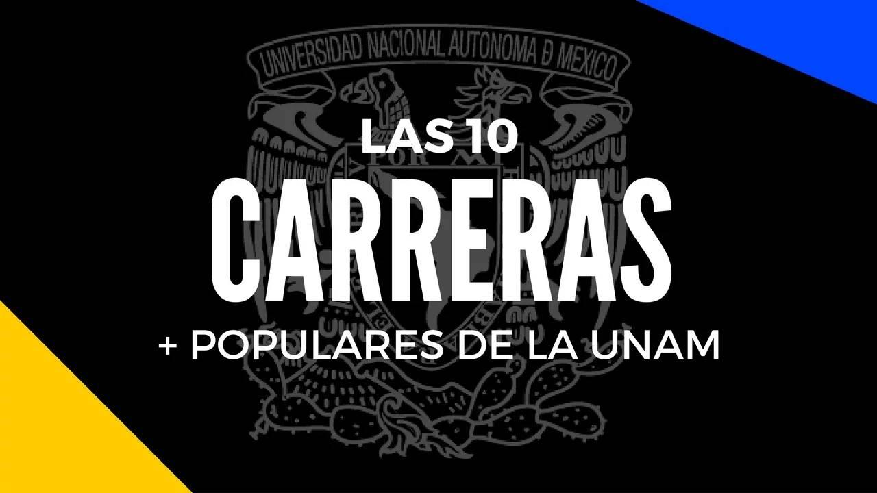 Las 10 carreras con más demanda en la UNAM